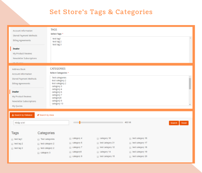 Easily Add Categories & Tags For Dealer Stores