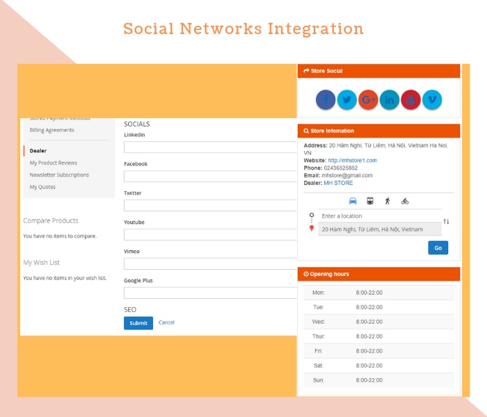 Magento 2 Dealer Extension Integrate With Popular Social Networks