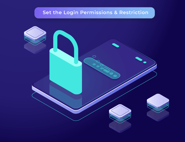 Login Permission and restriction support