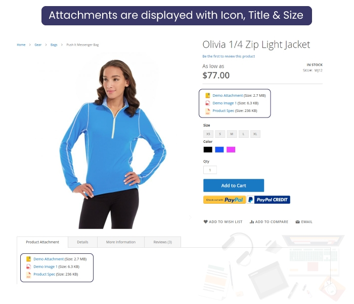 Magento 2 Product Attachment File Display