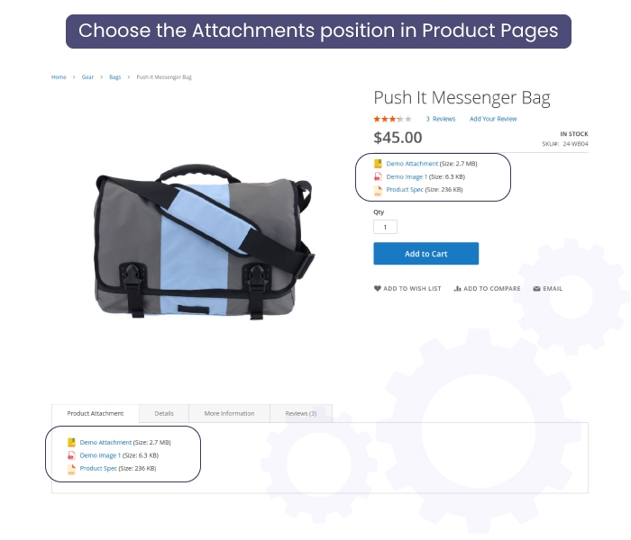 Magento 2 Product Attachment Product Page