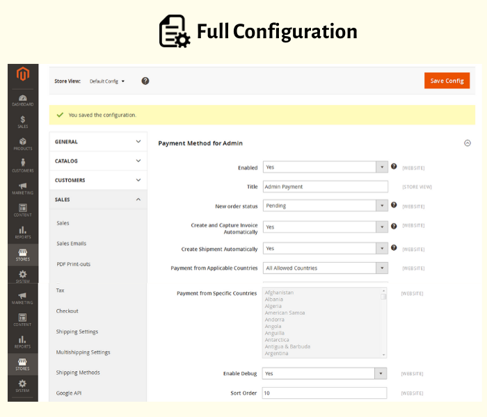 configure magento 2 admin payment method easily