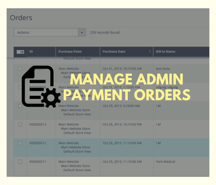 magento 2 admin payment method manage orders