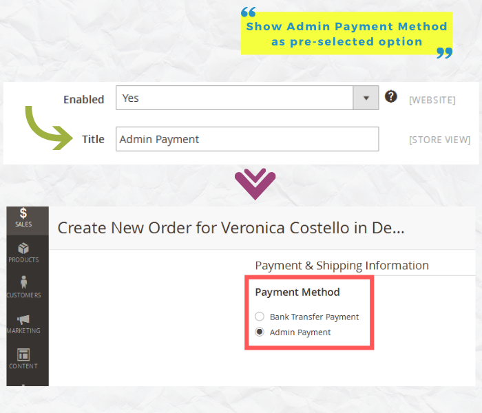 magento 2 admin payment method show admin payment option in backend