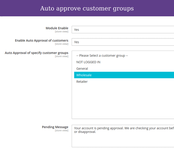magento 2 customer approval for customer groups