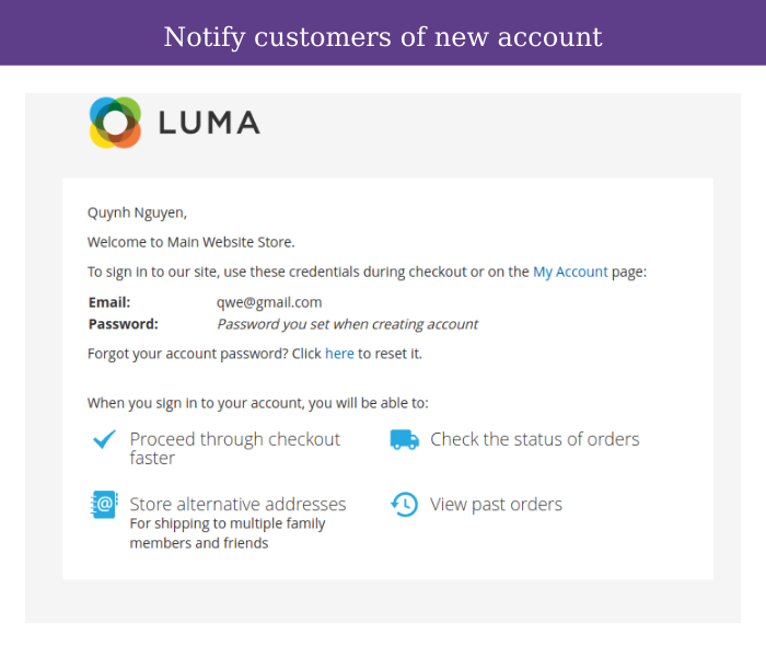 Magento 2 customer approval notify customer new account via email