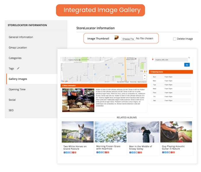 Integrated Image Gallery
