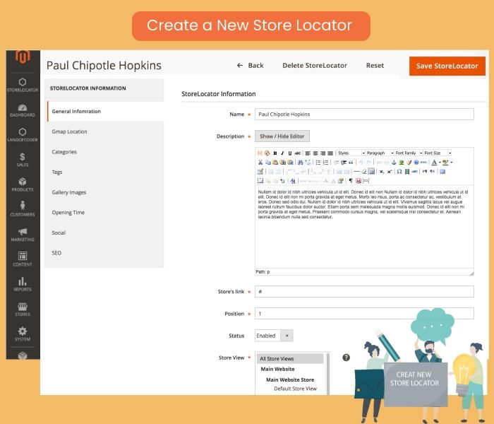 Create a New Store Locator