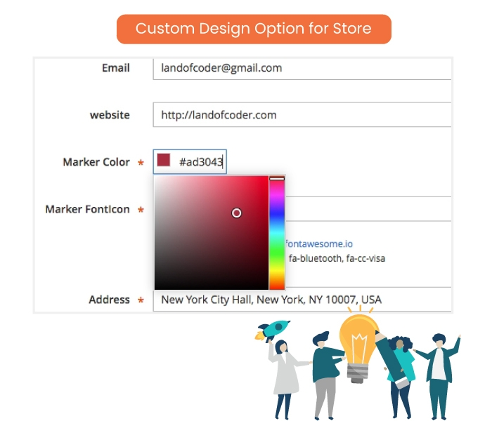 Custom Design Option for Store