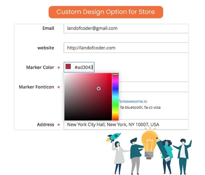 Custom Design Option for Store