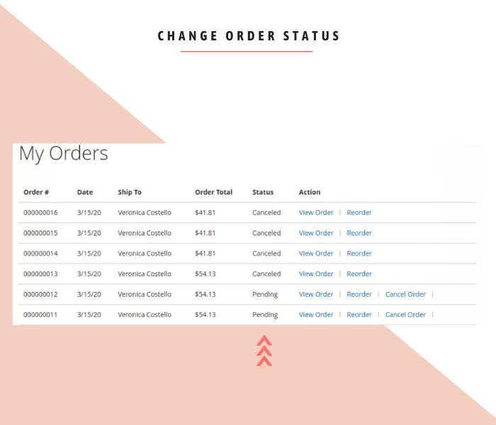 magento 2 cancel order change order status auto restock item