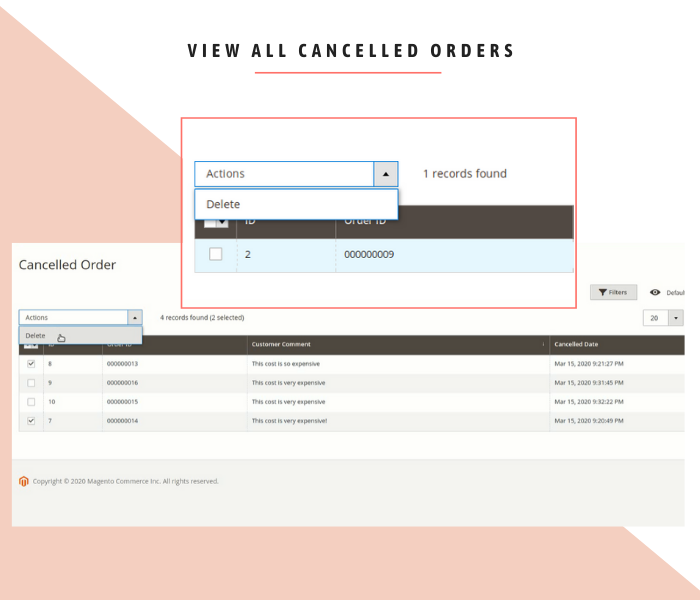 view all cancelled orders in magento 2 backend