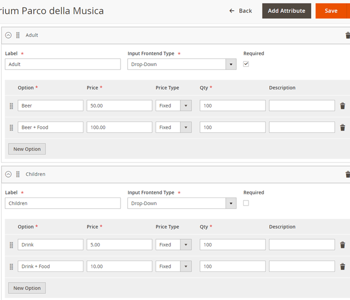 Magento 2 event tickets - customize ticket types for specific events
