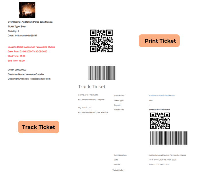 magento 2 event tickets - auto generate barcode and qr code for ticket