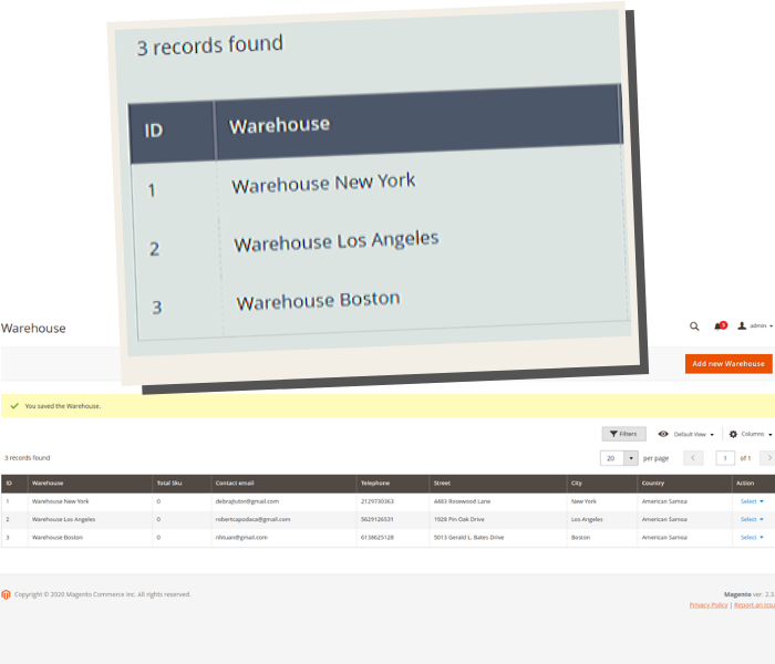 magento 2 multi warehouse inventory manage warehouse in grid