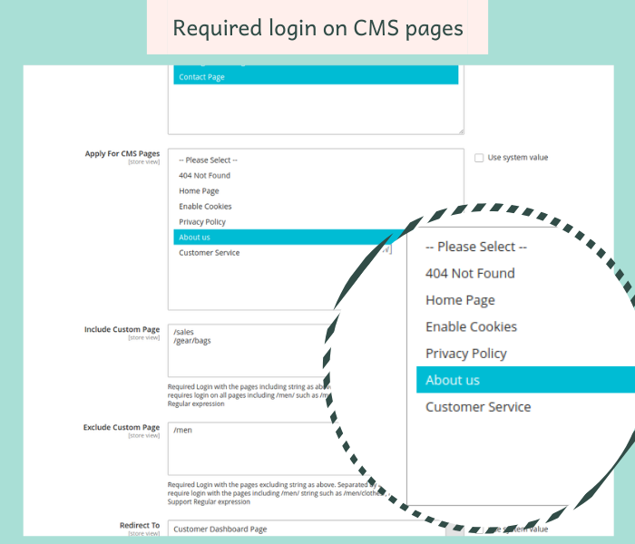 magento 2 force login on cms pages