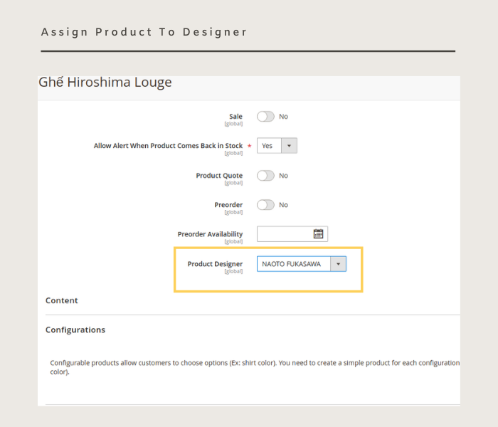 Magento 2 designer assign products to designers