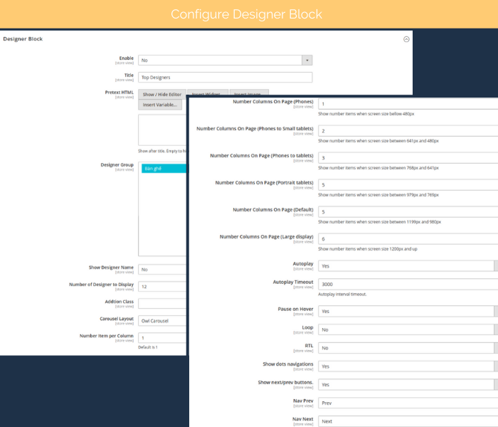 free magento 2 designer configure designer block