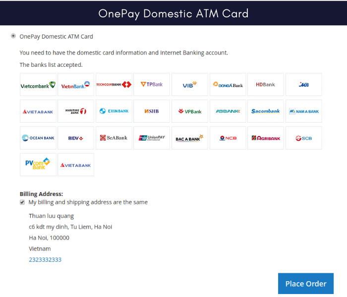 magento 2 onepay payment gateway domestic atm card
