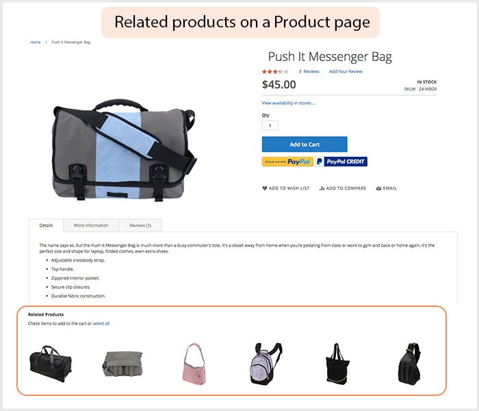 Offer multiple recommendations on product page