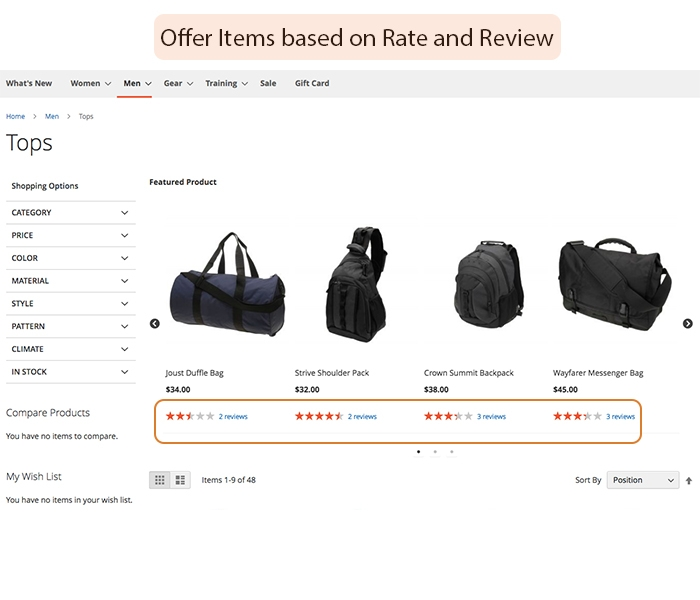 Suggest related products on shopping cart