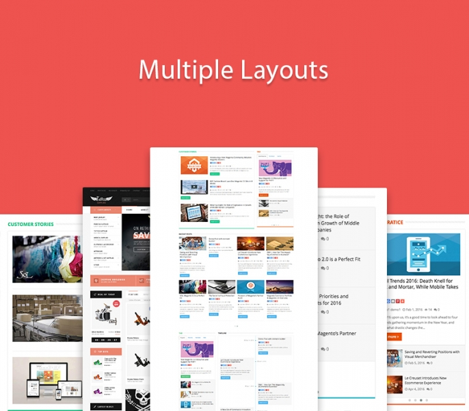 Multiple layouts types