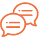 Communication via Slack/Skype