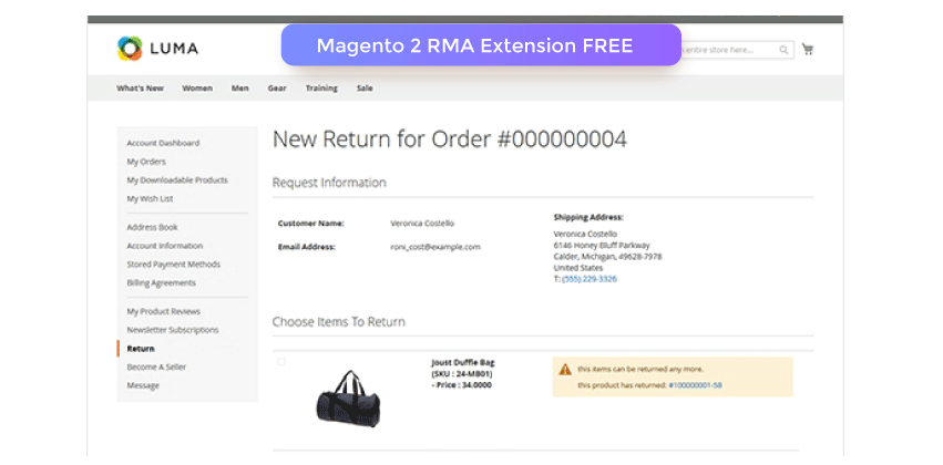 Magento 2 RMA Extension FREE