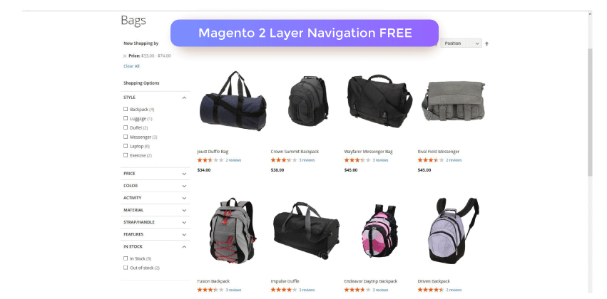 Magento 2 Layer Navigation Extension FREE