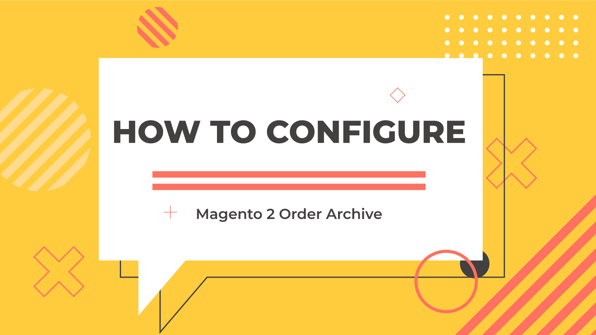 configure the order archive module
