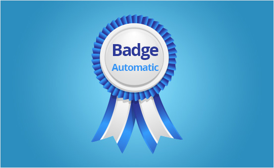 Be automatically awarded the badge