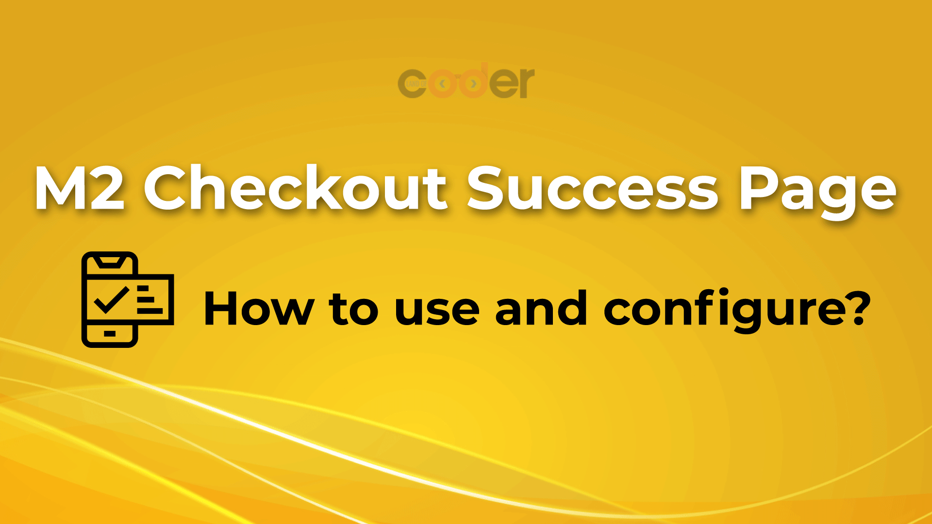 How to use magento 2 checkout success page