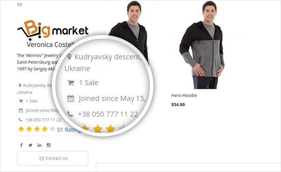 Attractive & Informative Seller Profile
