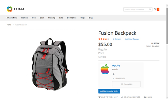 Optimized Product View Page