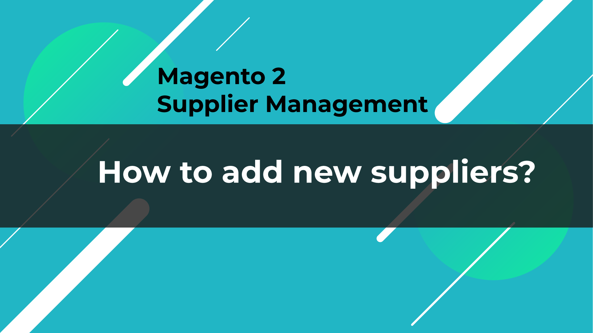 how to add new suppliers