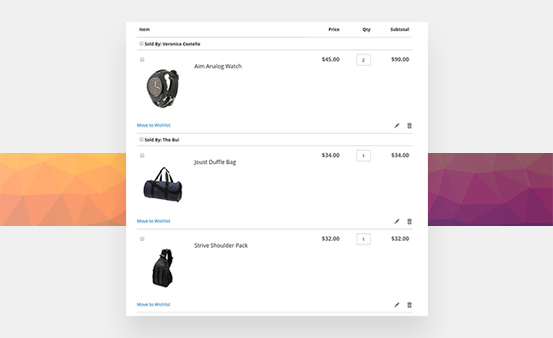 Add Multiple Seller's Products into Cart