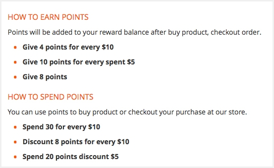 How to spend and earn point