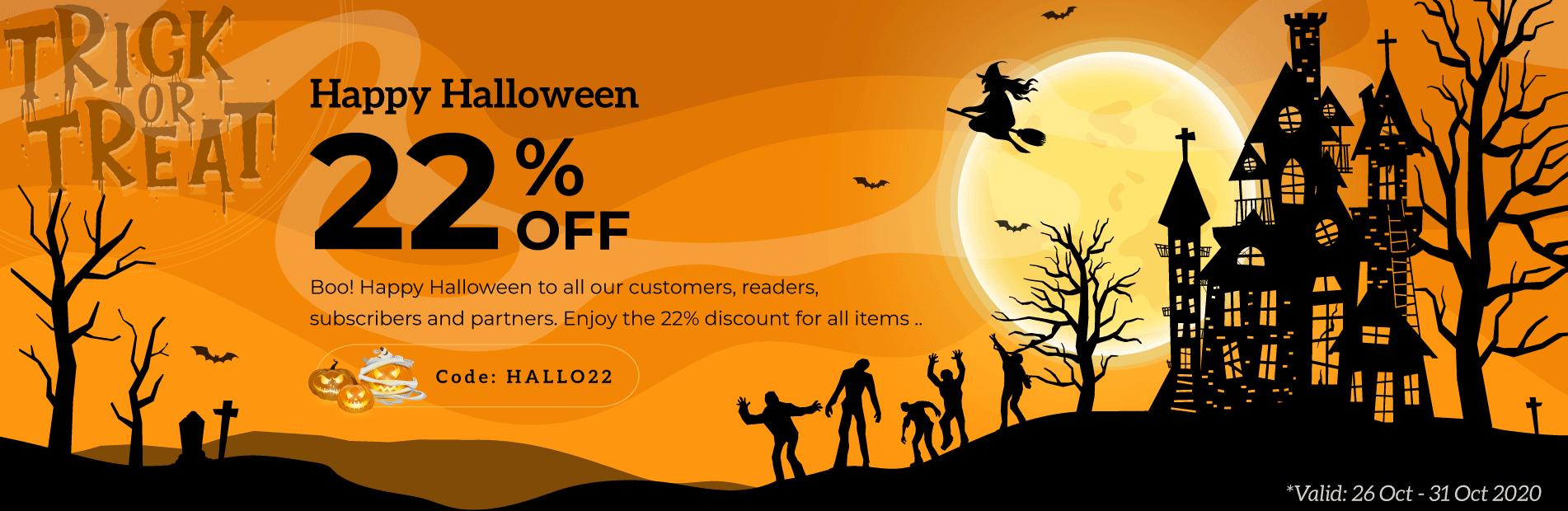 Happy Halloween 2020, Sales Off 22 %