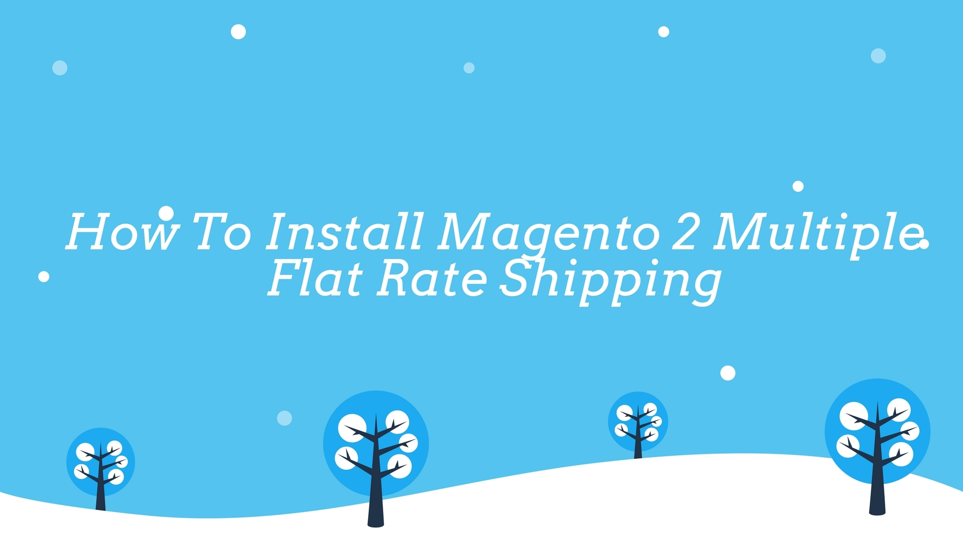 Install Magento 2 Multiple Flat Rate Shipping